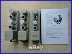 3 Urei Universal Audio Type 100d Variable Equalization Microphone Preamp Modules