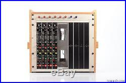 4 WARD-BECK WBS M460M MIc/ Line Preamp & EQ Channel Strips with Rack & PSU #27405