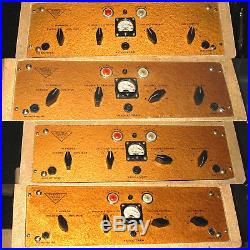 4 x 1950s VALVE/TUBE AMPLIFIERS HAND-WIRED MIC PRES BRENELL GOLD Mk. 5 WITH PSUs