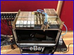 5 Racked Vintage Langevin AM16 mic preamps