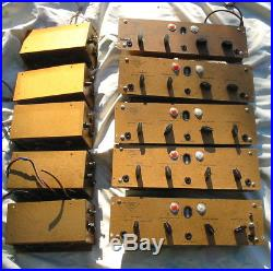 5 x 1950s VALVE AMPLIFIERS HAND-WIRED MIC PRES BRENELL GOLD Mk. 5 MAGIC EYES PSUs