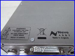 AMS Neve 4081 Quad Mic-Pre mint hardly used comes installed with Digital I/O Opt