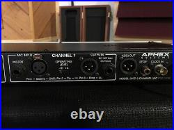 APHEX 207D Microphone PRE-AMP 2 CHANNEL Tube /Solid State. Very rare hard find