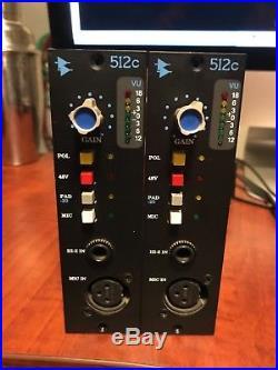 API 512c Discrete Microphone / Line Preamplifier Used Mic Pre (x4)