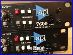 API 7600 model mic preamp channel strip in excellent condition Includes 560A EQ