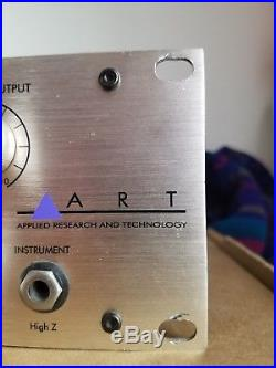 ART MPA Gold 2 Channel Microphone Tube Pre Amplifier Preamp Excellent