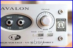 AVALON DESIGN U5 DI Preamp Direct box Hi-Z input adopted Working Tested Used