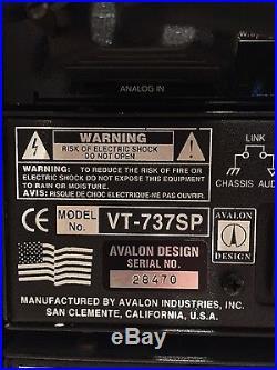 AVALON VT-737SP Tube Channel Strip Microphone Preamp/ Compressor/ EQ