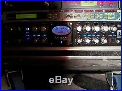 Avalon 737 VT-737sp Microphone Vocal Preamp Black 10th Anniversary Blue LED's