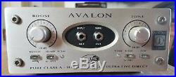 Avalon Design U5 DI Preamp Silver. Serial No. 24428