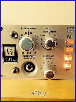 Avalon VT-737SP Mic Pre/EQ/Compressor Channel Strip Mint Condition