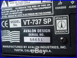 Avalon VT-737 SP VT737SP Tube Channel Strip Mic Preamp NEVER USED