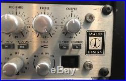 Avalon VT-737 SP Vacuum Tube Microphone Preamp Excellent Condition