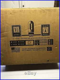 Avalon VT-737 Vacuum Tube Channel Strip & VP1 Rack spacer In Original Box
