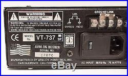 Avalon VT-737sp Tube Microphone / Instrument Preamplifier Rack Unit with Manual