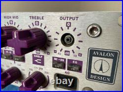 Avalon vt-737sp Mic Tube Pre-amp in Great Condition with SP Input Transformer