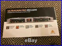 Behringer MIC2200 Ultragain Pro 2 Channel High Precision Tube Mic Pre amplifier