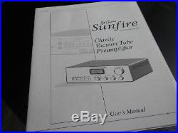 BobCarver Sunfire Tube Preamplifier