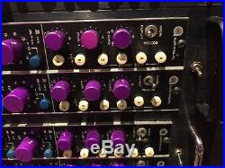 Custom stereo Vintage Racked Mic preamp Auditronics EQ Recording Studio Console