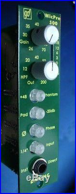 Daking MicPre 500 microphone preamp for 500 series