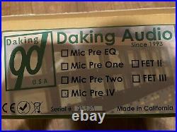 Daking Mic Pre IV Rackmount 4-Channel Microphone Preamp Jensen I/O Transformers