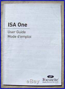 FOCUSRITE ISA ONE Microphone Pre-amp Great Condition, Light Usage, Manual
