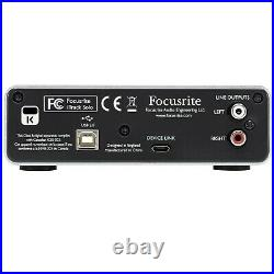 Focusrite iTrack Solo Lightning USB Home Audio Recording Interface Mic Preamp