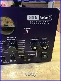 HHB Radius 3 FAT MAN FATMANSTEREO Tube COMPRESSOR Pre Amp GREAT CONDITION