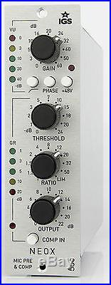 IGS Neox 500 preamp & comp for API 500 series with optical style compressor NEW
