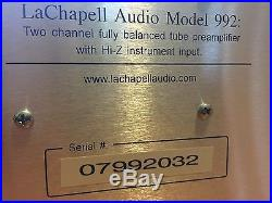 LaChapell Audio 992 e. G. 2 channel rack-mountable tube microphone preamp