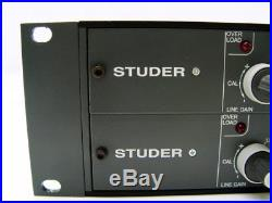 Lot of 2 Studer 900 Mic Preamp Channel Strips