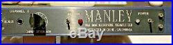 Manley Dual Mono Microphone Preamplifier 2-channel tube mic preamplifier