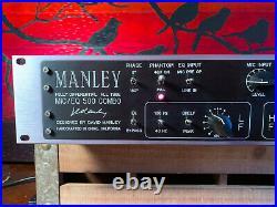 Manley Labs Mic Eq 500 Mic Pre /EQ Very rare Lush Sound