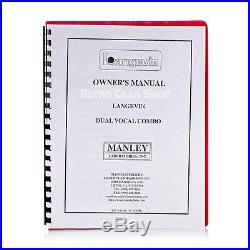 Manley Langevin DVC Dual Vocal Combo Channel Strip Preamp EQ Compressor
