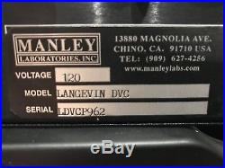 Manley Langevin Dual Vocal Combo DVC Mic Preamp/EQ/Limiter EXCELLENT CONDITION