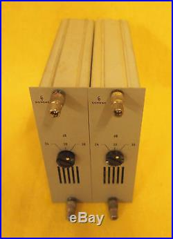 Matched Pair Siemens Sitral V294 Micpres Full Discrete! Racking Option