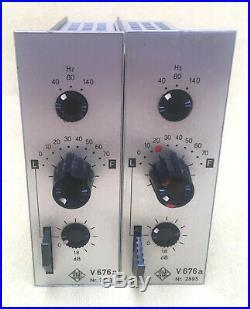 Matched Pair Telefunken V676a Full Discrete V76 follower Class A