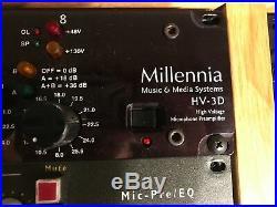 Millennia HV-3D Preamp NEAR MINT