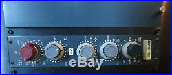 Neve 1084 mic pre/eq in Vintage King dual rack with Cinemag DI