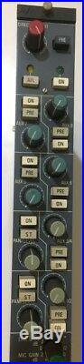 Neve 51 Vatican Mono MIC Line Module Preamp Channel Strip 83610 Vintage Studio