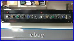 Neve Mic Pre EQ's 33122 all discrete (pair) racked includes power supply with48v p