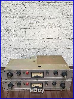 PAIR Scully 280 Germanium preamps heavily modded with PSU UTC xfmr vintage 60's