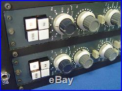 Pair NEVE 1081 Mic-Pre EQ withRack