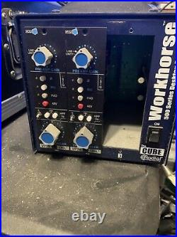 Pair Of Capi VP28 Preamps And Radial workhorse 3 Slot 500 Series Rack