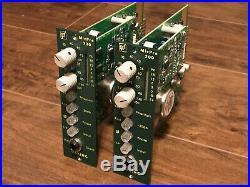 Pair of Daking MicPre 500 Microphone Preamp Modules for API 500-Series Rack PSU
