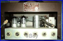 Pentron Mm-4a Vacuum Tube Microphone Preamplifier Mixer Extremely Rare! Tube Amp