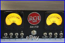 RCA BA-71B Restored, Racked Pair of vintage RCA Mic-preamps. Beautiful