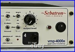 Sebatron vmp-4000e four channel Valve mic preamp