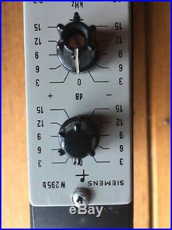 Siemens W 295b Germanium EQ Equalisers