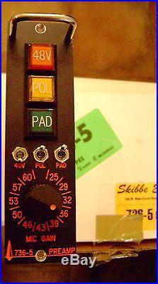 Skibbe 736-5 series 500 mic pre